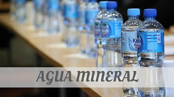 Agua Mineral?